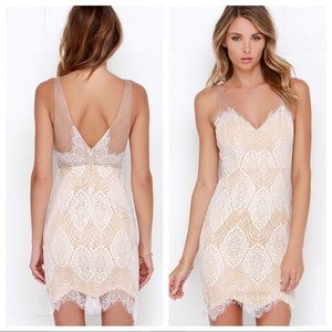 Lulus Luxe for Life Ivory Lace Dress